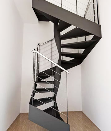 Современная нестандартная лестница винтовая